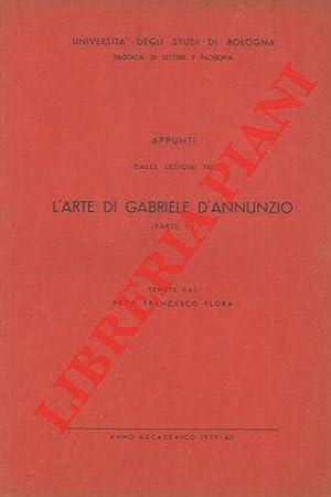 Appunti dalle lezioni su l'arte di Gabriele: FLORA Francesco -