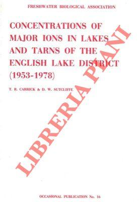 Concentrations of major ions in lakes and tarns of the English Lake District.