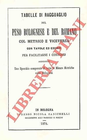 Tabelle di ragguaglio del peso bolognese e