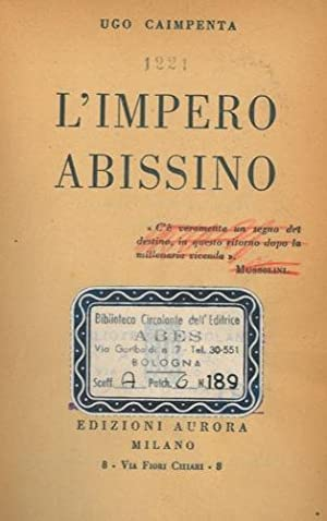 L'Impero abissino.: CAIMPENTA Ugo -
