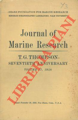 Journal of Marine Research. T. G. Thompson