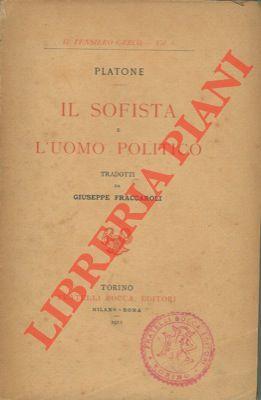 Il sofista e l'uomo politico.: PLATONE -