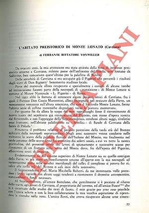 L'abitato preistorico di Monte Lonato (Cavriana) .: RITTATORE VONWILLER Ferrante