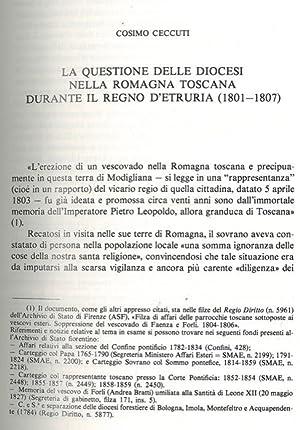 La questione delle diocesi nella Romagna toscana: CECCUTI Cosimo -