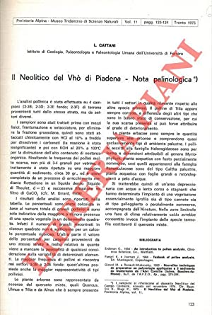 Il neolitico del Vhò di Piadena. Nota: CATTANI L. -