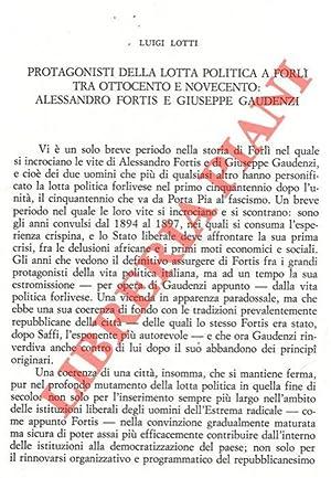 Protagonisti della lotta politica a Forlì tra: LOTTI Luigi -
