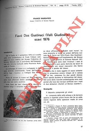 Fiavè dos Gustinaci (Valli Giudicarie) : scavi: MARZATICO Franco -