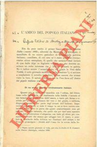 L'amico del popolo italiano.: RUFFINI Enrico -