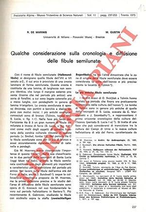 Qualche considerazione sulla cronologia e diffusione delle: DE MARINIS Raffaele
