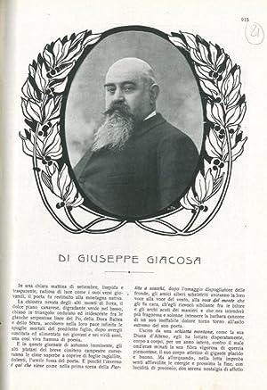 Di Giuseppe Giacosa.: MARANGONI Guido -