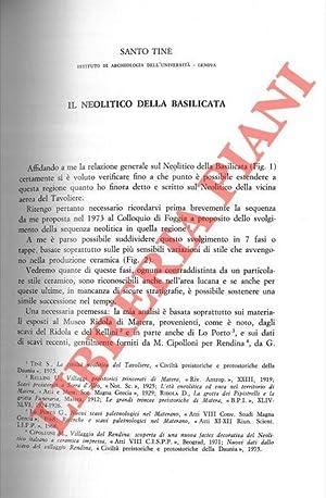Il Neolitico della Basilicata.: TINE' Santo -