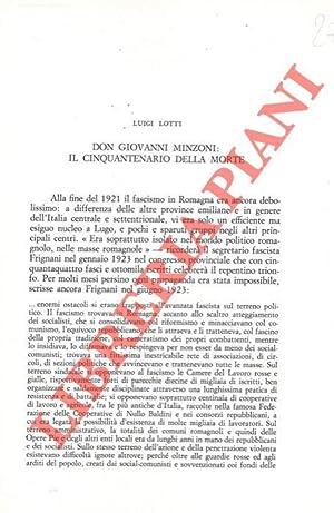 Don Giovanni Minzoni: il cinquantenario della morte.: LOTTI Luigi -