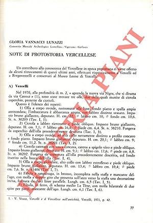 Note di protostoria vercellese.: VANNACCI LUNAZZI Gloria