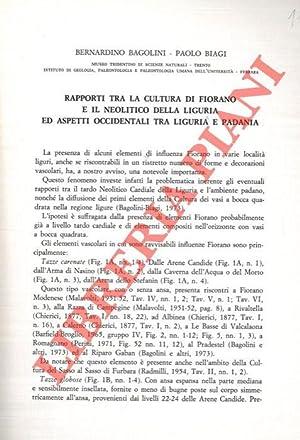 Rapporti fra la Cultura di Fiorano e: BAGOLINI Bernardino -
