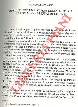 Appunti per una storia della liuteria in: DELL'AMORE Franco -