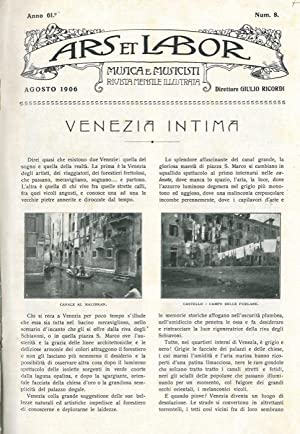 Venezia intima.: MARANGONI Guido -