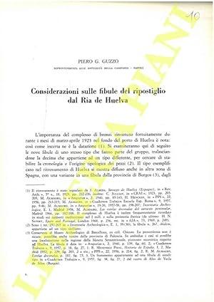 Considerazioni sulle fibule del ripostiglio dal Ria: GUZZO Piero G.
