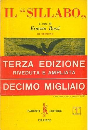 """Il """"Sillabo"""". III edizione ampliata.: ROSSI Ernesto) -"""