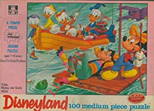 Mickey and Goofy Afloat. Puzzle di cm. 27 x 21
