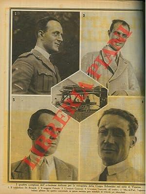 I quattro campioni dell'aviazione italiana per la
