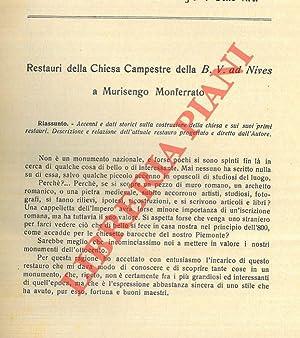 Restauri della Chiesa Campestre della B. V.: RIGOTTI Giorgio -