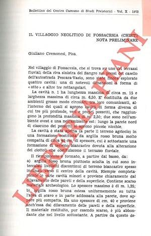 Il villaggio neolitico di Fossacesia (Chieti) .: CREMONESI Giuliano -