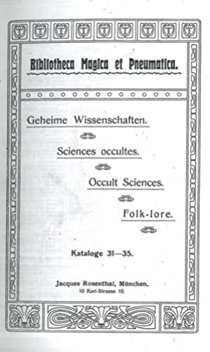 Bibliotheca Magica et Pneumatica. Geheime Wissenschaften.Sciences occultes. Occult Sciences. Folk...