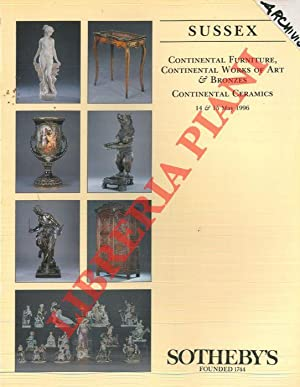 Continental furniture, continental works of art & bronzes. Continental ceramics.