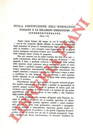 Sulla costituzione dell'eneolitico italiano e le relazioni: LAVIOSA ZAMBOTTI P.