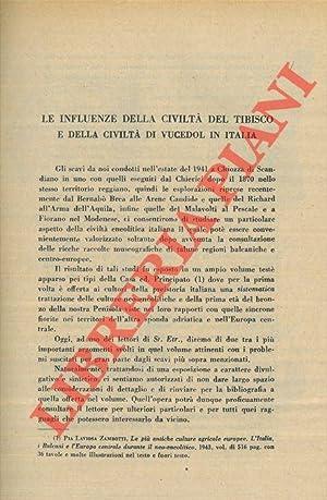 Le influenze della civiltà del Tibisco e: LAVIOSA ZAMBOTTI P.