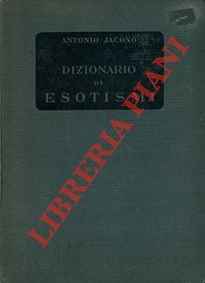 Dizionario degli esotismi. Voci e locuzioni forestiere: JACONO Antonio