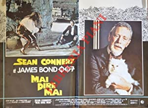 James Bond 007. Mai dire mai. Con Sean Connery.