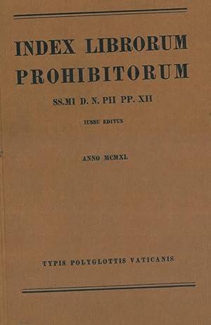 Index librorum prohibitorum SS.MI D. N. PII