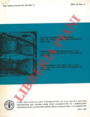 FAO Department of Fisheries. List of publications and documents 1948-1969.