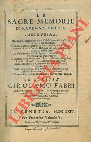 Le sagre memorie di Ravenna antica.: FABRI Girolamo -