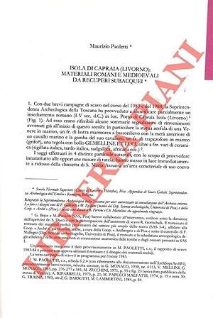 Isola di Capraia (Livorno) : materiali romani: PAOLETTI M. -