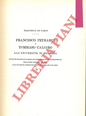Francesco Petrarca e Tommaso Caloiro all'Università di Bologna.