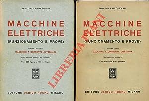 Macchine elettriche. (Funzionamento e prove). I. Macchine: SOLARI Carlo -