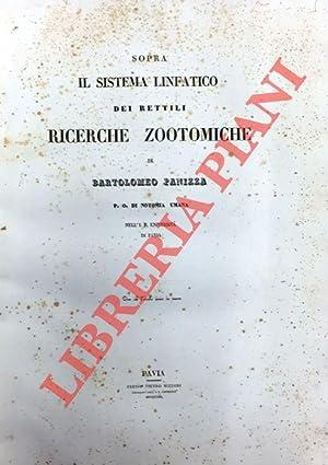 Sopra il sistema linfatico dei Rettili. Ricerche: PANIZZA Bartolomeo -