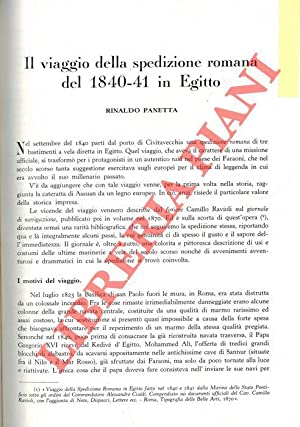 Il viaggio della spedizione romana del 1840-41: PANETTA Rinaldo -