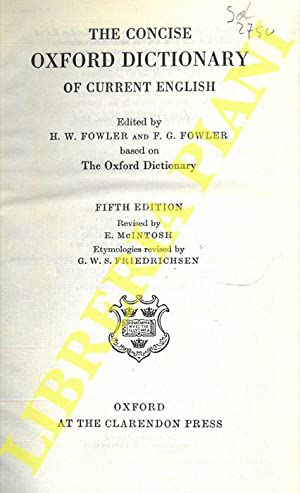 The concise Oxford dictionary of courrent english.