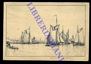 Le port d'Ostende.: CLAYS P. J.