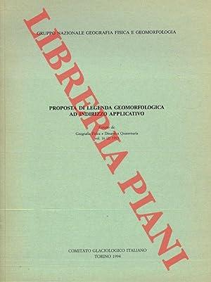 Proposta di legenda geomorfologica ad indirizzo applicativo.: Gruppo Nazionale Geografia