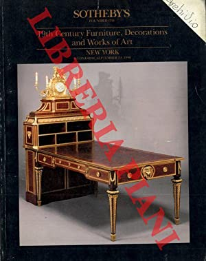19th Century Furniture, Decorations and Works of Art.