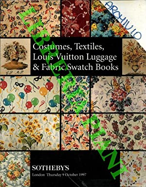European and Oriental Costume, Textiles, Louis Vuitton Luggage and Fabric Swatch Books.