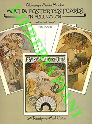 Alphonse Maria Mucha. Mucha Poster Postcards in full color. 24 Ready-to-Mail Cards.