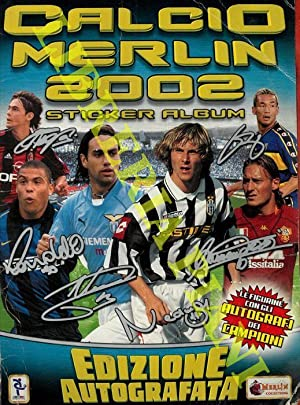 Calcio Merlin 2002. Sticker album.