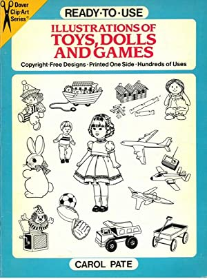 Ready-to-Use Illustrations of Toys, Dolls and Games.