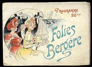 Programme.: Folies Bergère. Paris
