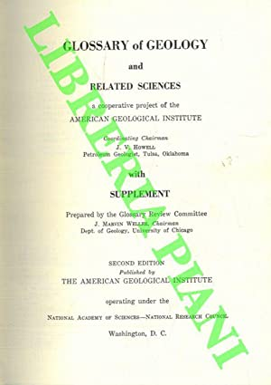 Glossary of Geology and Related Sciences. With Supplement.